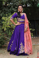 Actress Shraddha Srinath in Purple Chania Choli Cute Pics ~  Exclusive 08.jpg