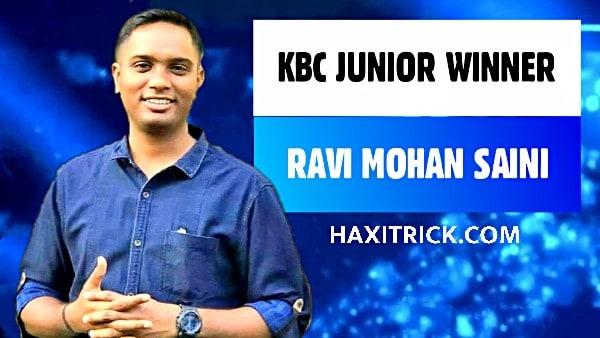 KBC Junior Winner Ravi Mohan Saini