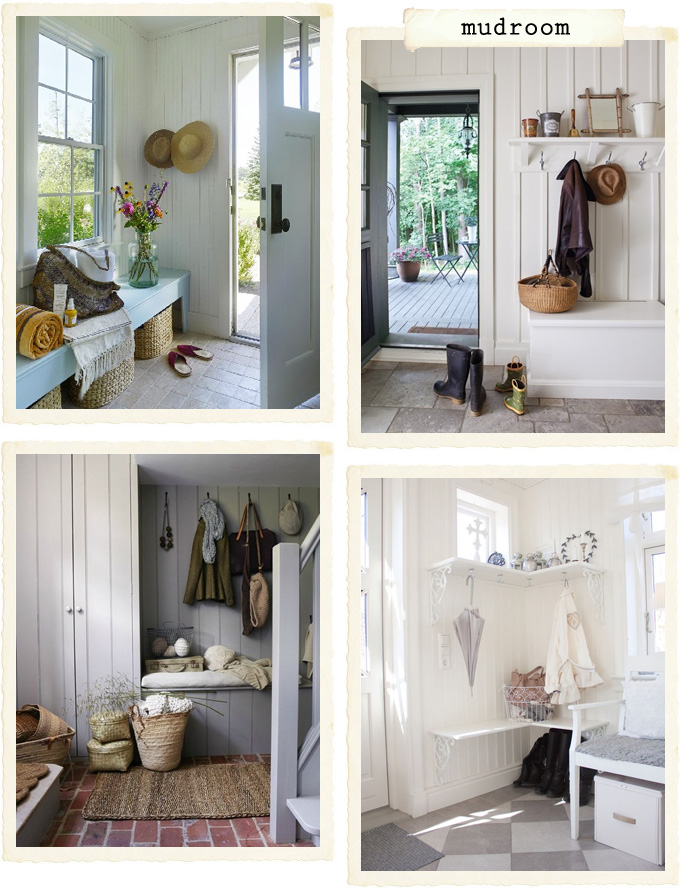 La mia mudroom shabby chic interiors for Cassapanca ingresso