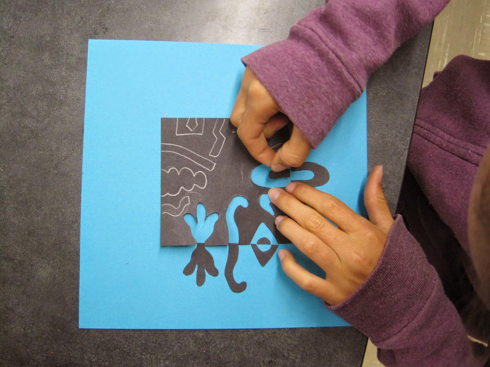Zilker Elementary Art Class Fifth Grade Positive Negative