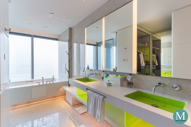 bathroom of the Fantastic Suite at W Hotel Suzhou China