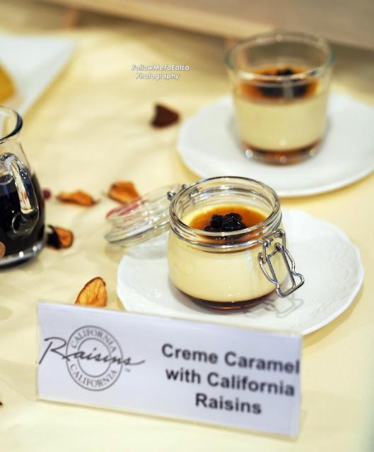 Creme Caramel With California Raisins