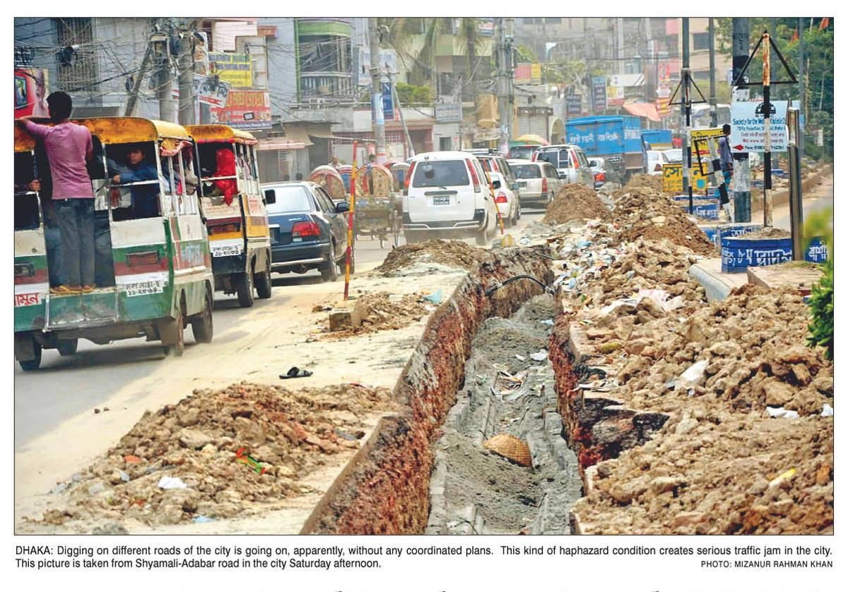 unplanned construction of flyover problem and Construction of a flyover at peco road has also been started remodeling of underpasses on canal bank road is also on the cards and authorities have also planned to construct two new underpasses.