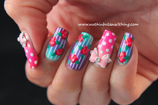 vintage flower nail art tutorial