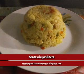 receta de arroz a la jardinera peruano