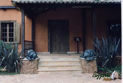 Base de pedra da Casa da Fazenda Morumbi, construída com pedra moledo.