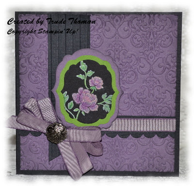 Vintage, Stamp with Trude, Stampin' Up!, greeting card, black magic technique