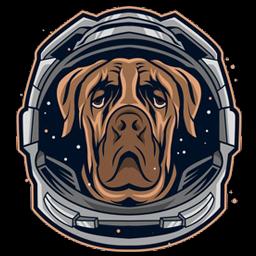 ikon gambar kepala logo anjing