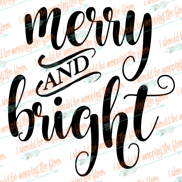 Merry and Bright Cut File
