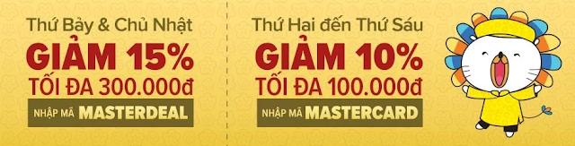 mã giảm giá cho master card