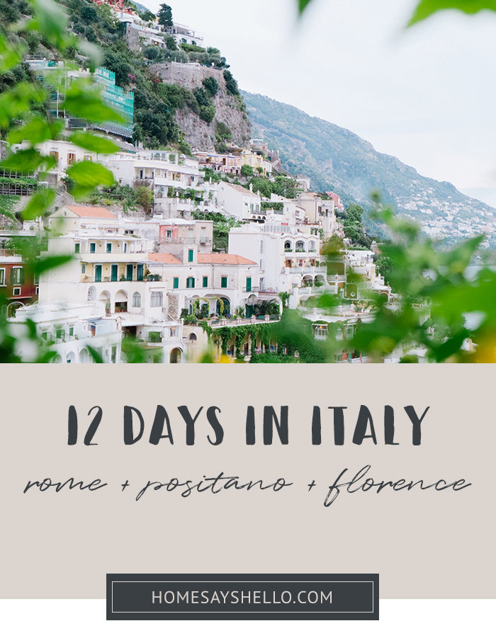12 Days in Italy Itinerary - Rome, Amalfi Coast, Tuscany