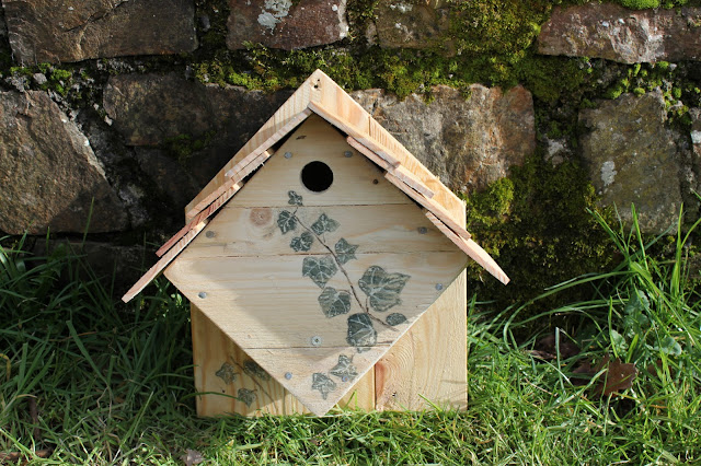 Home-made nesting box for wild birds