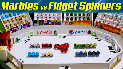 MARBLES vs FIDGET SPINNERS - OCTAGON Collision │2019 America´s Cup Spinner collision