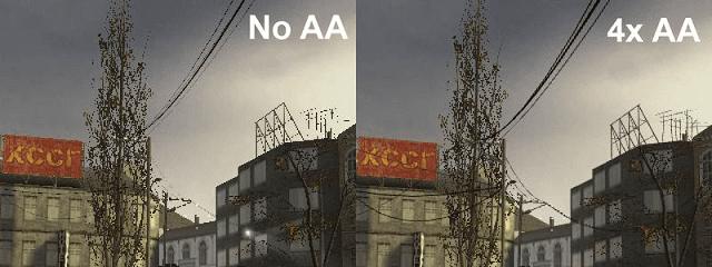 Anti-aliasing akan menghilangkan efek tidak halus di tepian objek