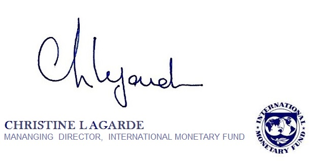 IMF Managing Director Christine Lagarde Letter to Greece