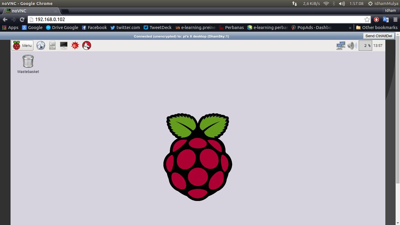 Remote RaspBerry Pi 2 Menggunakan noVNC Lewat Web Browser