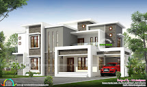2496 Sq-ft Flat Roof Modern Contemporary Kerala House