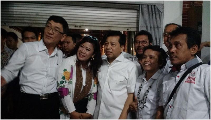 Setya Novanto di acara peresmian Rumah Lembang Posko Ahok
