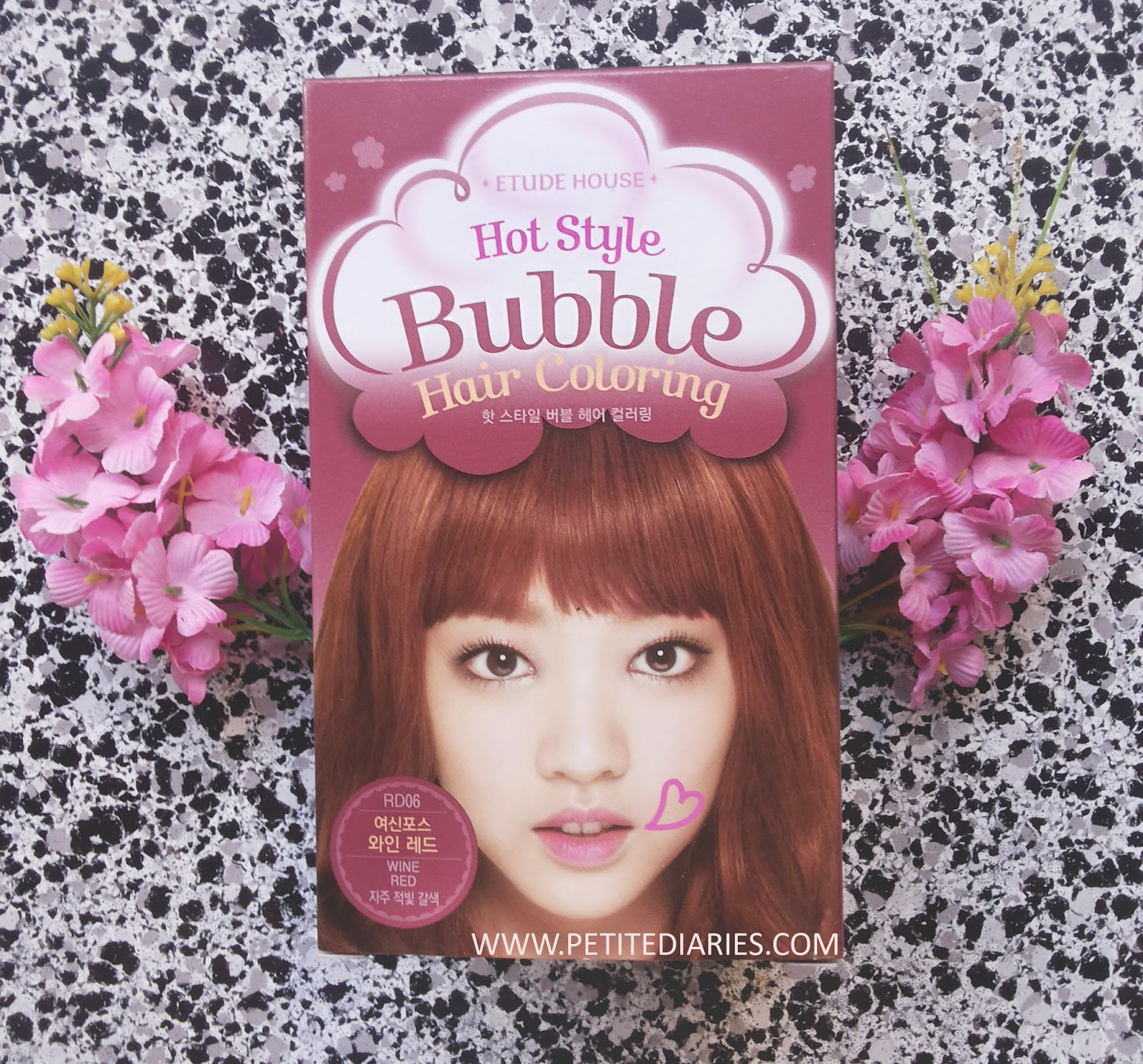 Review Etude House Hot Style Bubble Hair Coloring In Rd06 Wine Red Petite Diaries