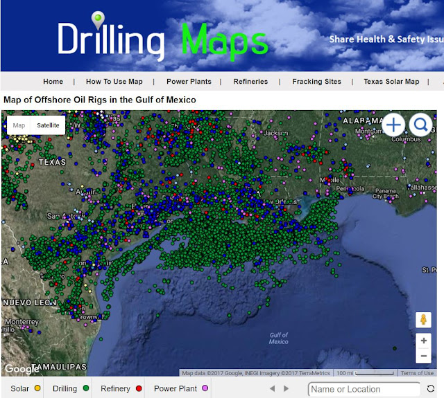 Oil Rigs In Gulf Of Mexico Map.Hurricane Harvey Gulf Oil Rigs Map
