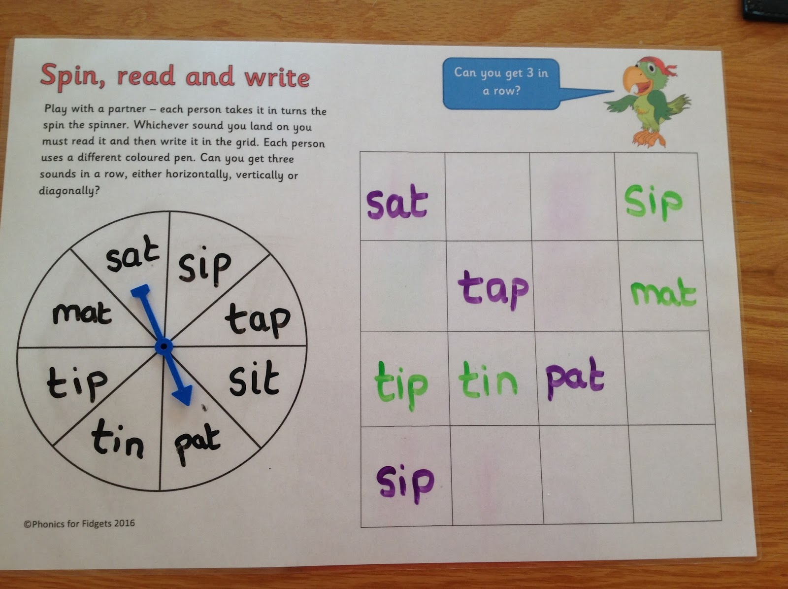Spin words