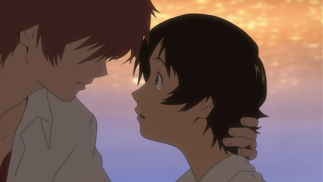 Makoto e Chiaki Anime The Girl Who Leapt Through Time