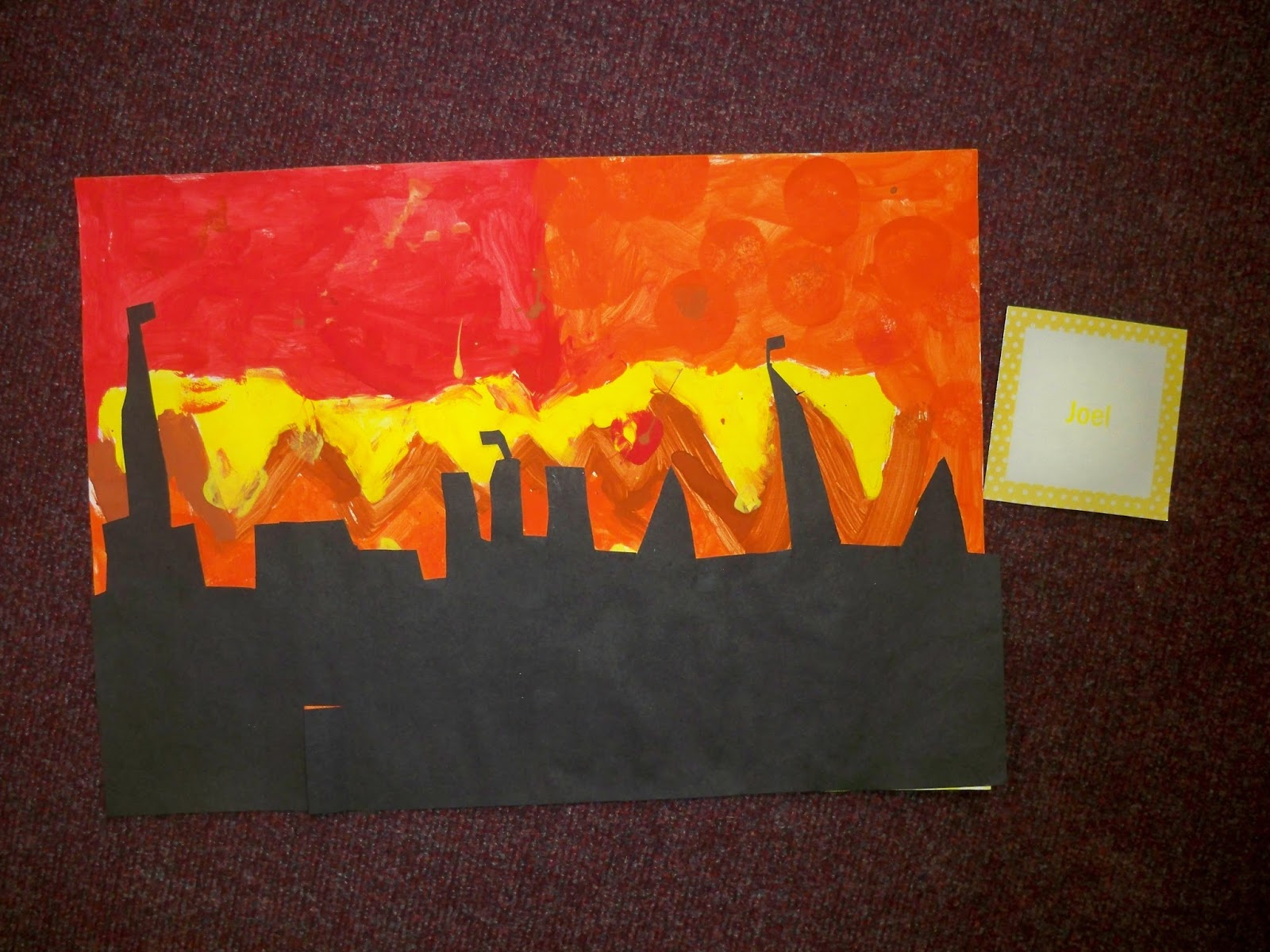 hedgehogs   great fire of london silhouette paintings