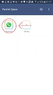 menggandakan aplikasi whatsapp dengan prallel space