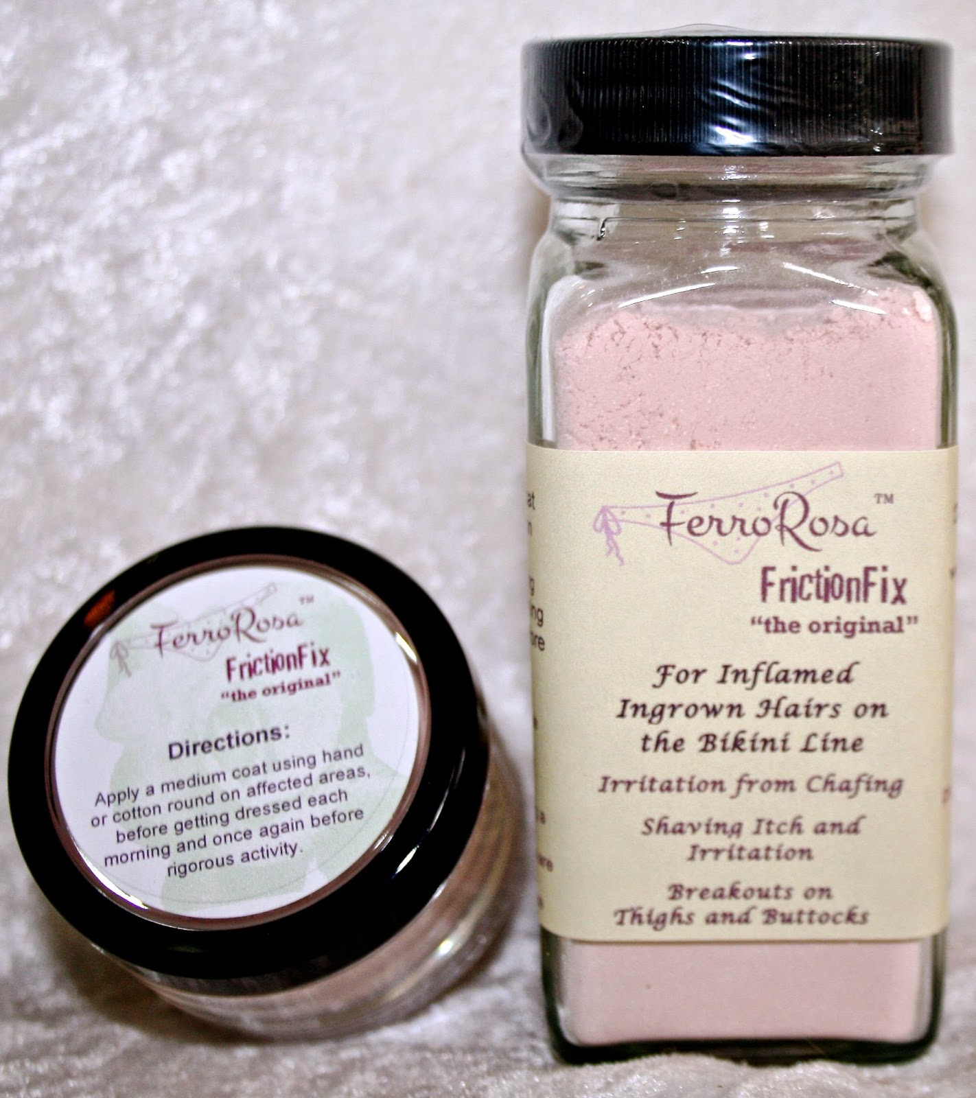 FerroRosa FrictionFix for ingrown hairs and body breakouts.