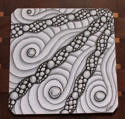 Akoya Zentangle Shaded