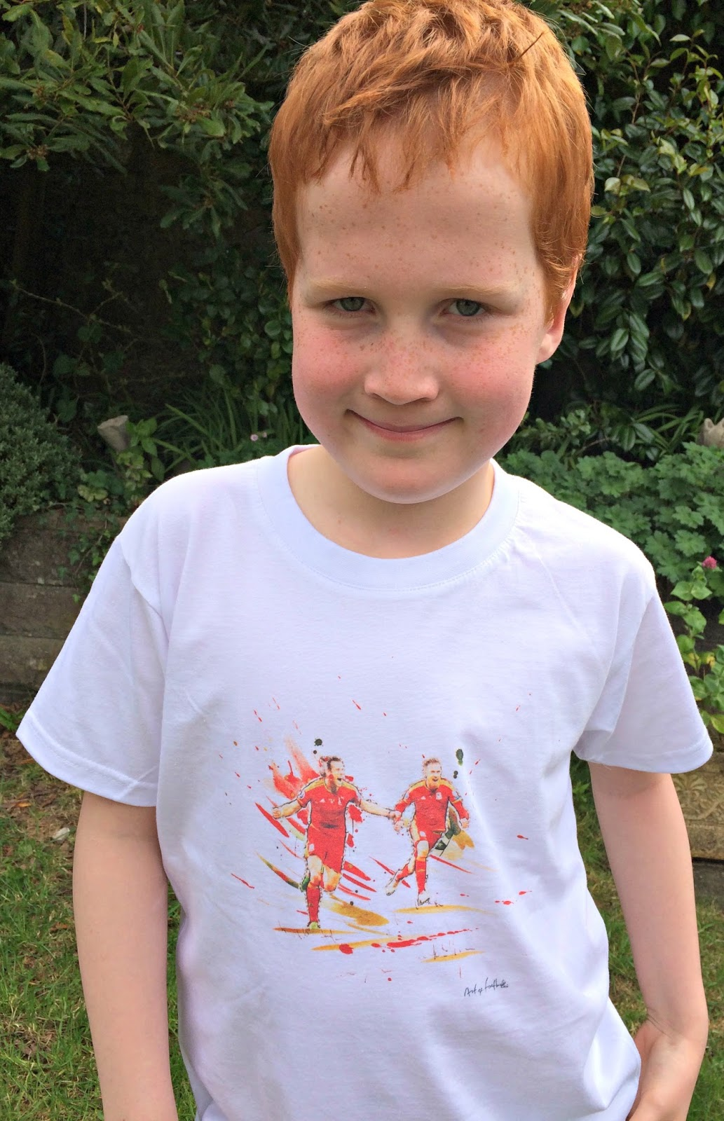 Ieuan Hobbis with Art of Football Enter The Dragon T-shirt