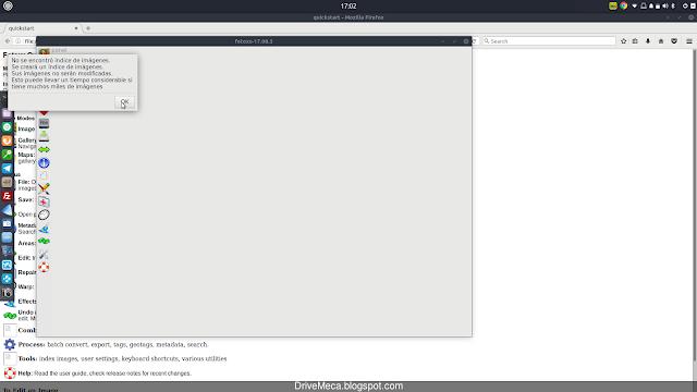 Fotoxx en su primera ejecucion en Linux Ubuntu no encontrara indice