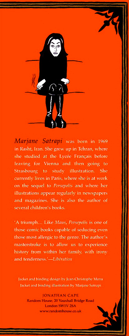 Read Back Cover 1 from Marjane Satrapi's Persepolis 1 - The Story of a Childhood