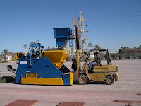 Concrete Block Making Machine Outdoor