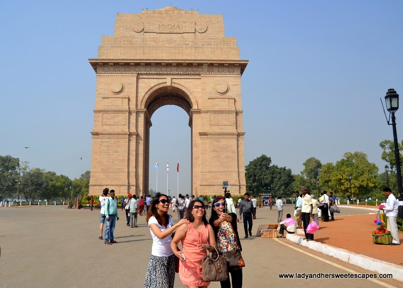 groupie at India Gate in New Delhi