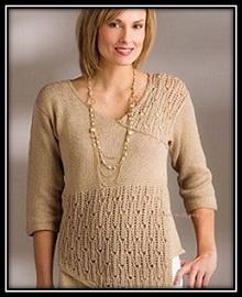 puloverspicami jenskii pulover vyazaniespicami vyazaniedlyajenschin shemauzora opisanievyazaniya