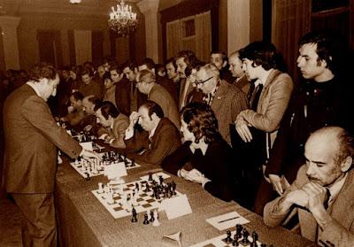 Simultáneas de ajedrez de Tigran Petrosian en 1974
