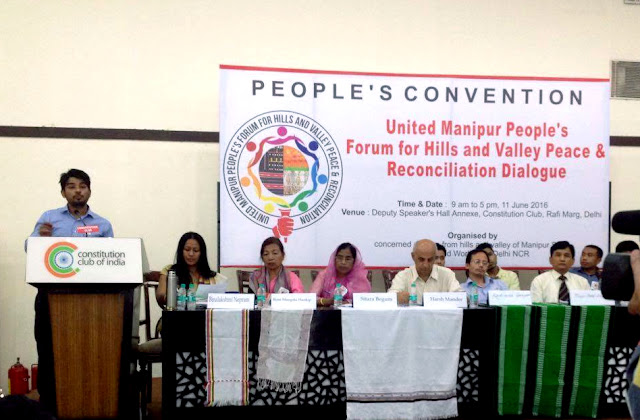 GORKHAS CHANT PEACE AT PEOPLE'S CONVENTION, DELHI