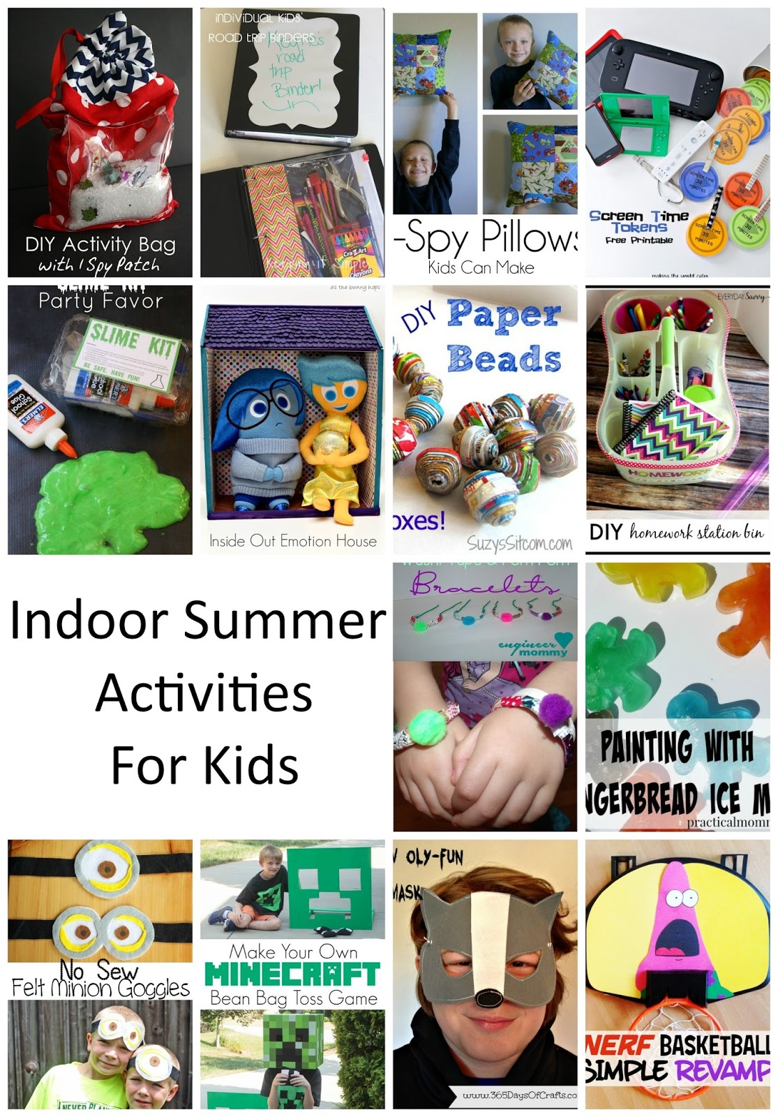 Indoor Summer Kid Activities. Boredom busters to beat the heat