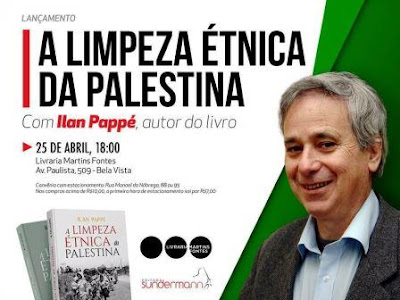 Lançamento de livro de Illan Pappé no Brasil