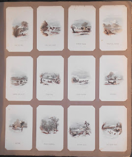 Full page of album showing all twelve cards from the series