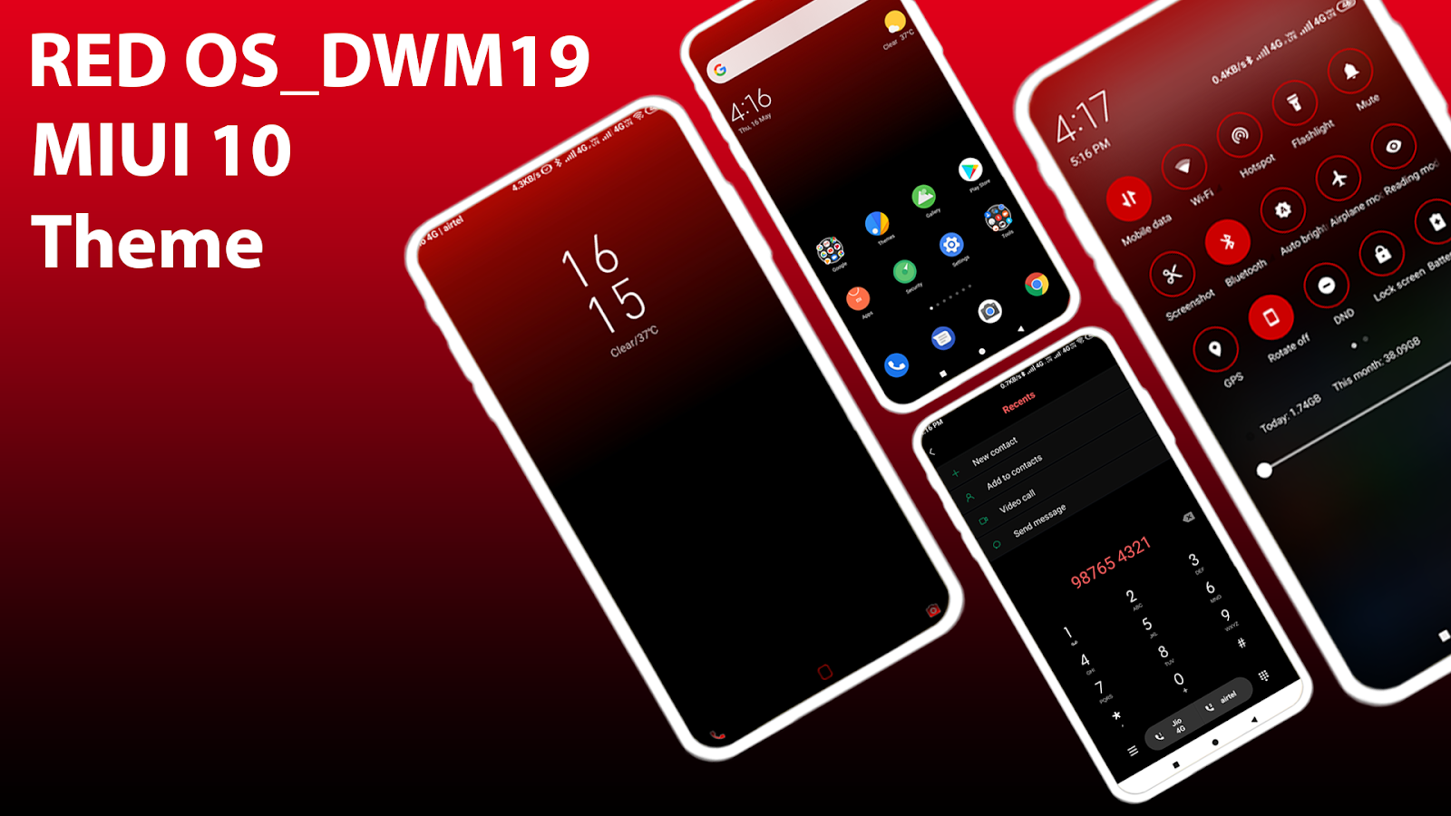 RED OS MIUI 10 Exclusive Theme For Mi Fans! Zhuti Link - MIUI THEMES