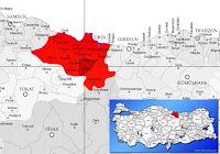 Gölköy ilçesinin nerede olduğunu gösteren harita.