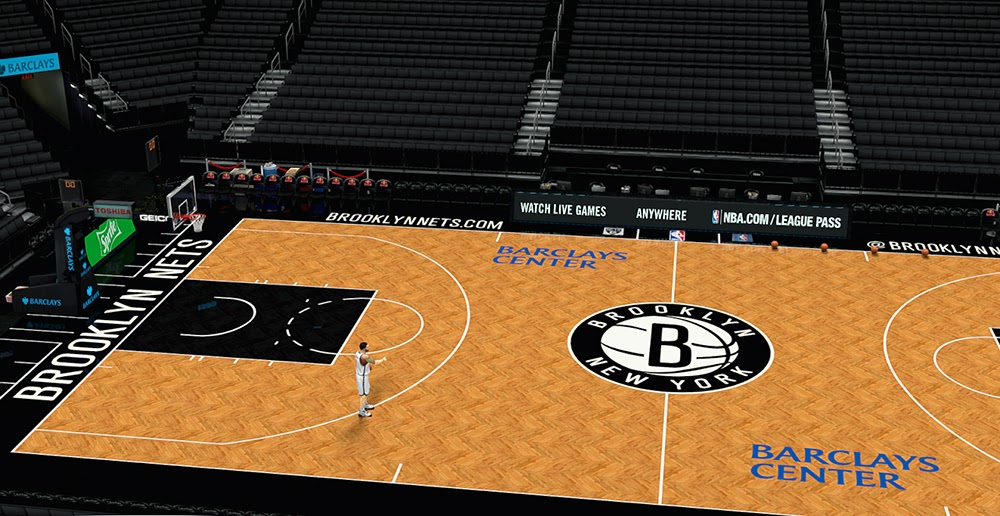 Nba 2k14 Brooklyn Nets Court Hd Texture Mod Nba2k Org
