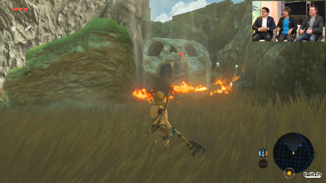The Legend of Zelda: Breath of the Wild wildfire wind combat fire