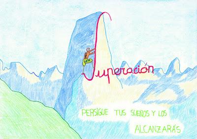 Dibujo infantil sobre Hugh Herr. Exposición en Avilés