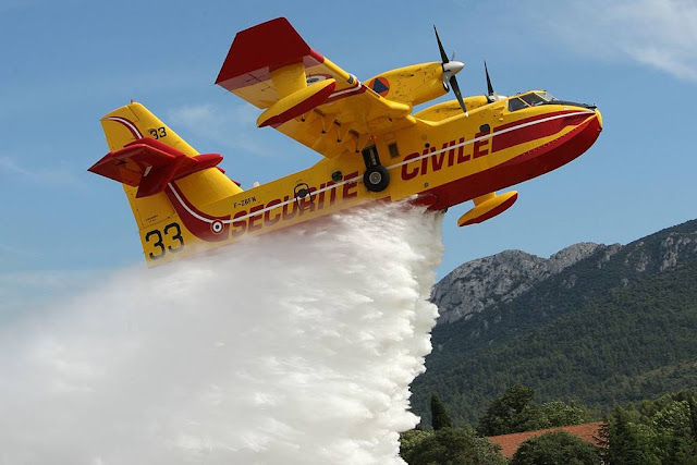 Canadair Notre Dame Cathedral fire