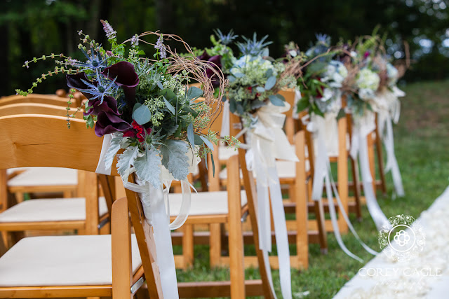 ceremony aisle decor | Corey Cagle Photography