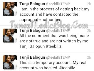 Tee Billz Claims Instagram Account Was Hacked [PICS]