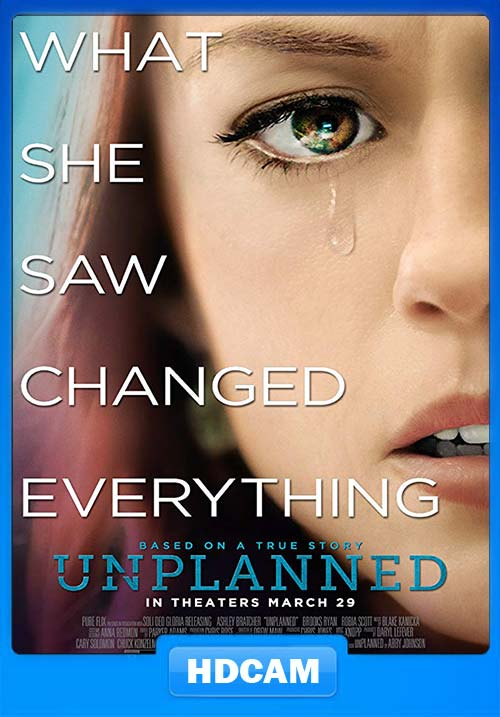 Unplanned 2019 English 720p HDCAM Rip x264 | 480p 300MB | 100MB HEVC